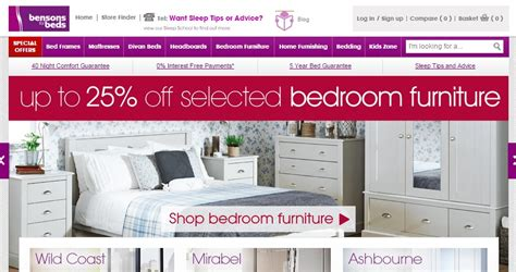 bensons for beds bensons for beds new sale and voucher code launched 16th september 2015