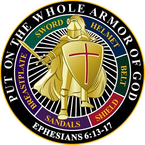 put on the put on the whole armor of god decal black