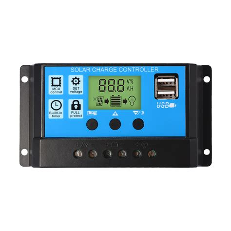 Solar Charge Controller 30 A With Usb 10 20 30a 12v 24v solar panel charge controller