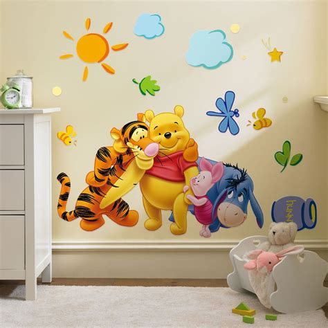 wall decals room winnie the pooh vinyl mural wall sticker decal removable nursery room decor ebay