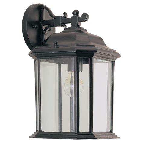 seagull light fixtures sea gull lighting kent 1 light black outdoor wall fixture