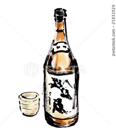 Sho Botol 1 Liter japanese sake 1 8 liter bottles 1 sho bottles stock illustration 25832029 pixta