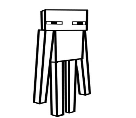 minecraft coloring pages mutant enderman minecraft enderman coloring page www pixshark com
