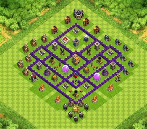 town hall 7 base design super clans war trophy base town hall 7 designs with air sweeper