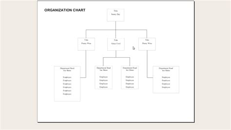 organizational charts templates for word blank chart template exle mughals