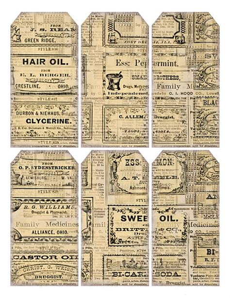 gift tags vintage clipart finders advertisement tags graphics ephemera