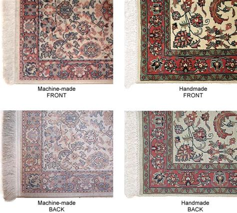 rug carpet difference how to tell the different of made vs machine made rugs