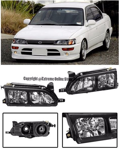 Corner L Toyota Corolla Ae110 All New 1997 Rh for 93 97 toyota corolla ae110 front black housing clear