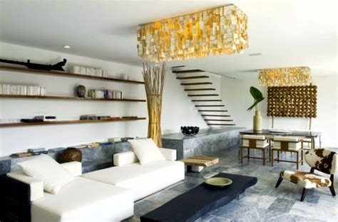 Home Decor Ideas For Walls exotic wood and stone house in the philippines interior