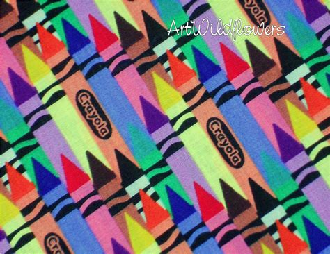 How To Get Crayon Out Of Fabric by Fabric Crayola Crayon Quilting Fabric For Rainbow