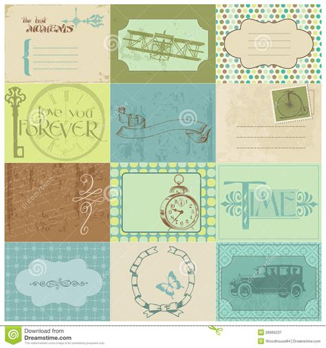printable paper key tags scrapbook paper tags and design elements royalty free