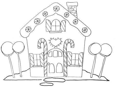christmas gingerbread house clipart black  white
