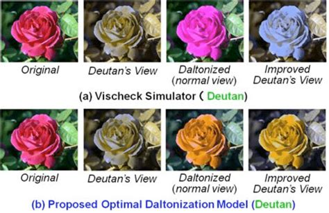 deutan color blindness shows the furthermore daltonization results in ishihara