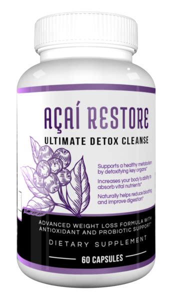 Acai Detox Cleanse by Acai Restore The Ultimate Detox Cleanse That Flush Pounds