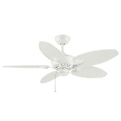 hton bay palm beach fan hton bay palm beach iii 48 in matte white indoor