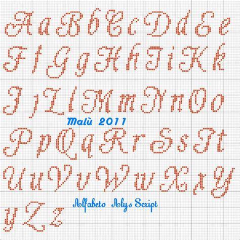 schemi di lettere a punto croce top alfabeto punto croce corsivo maiuscolo e minuscolo