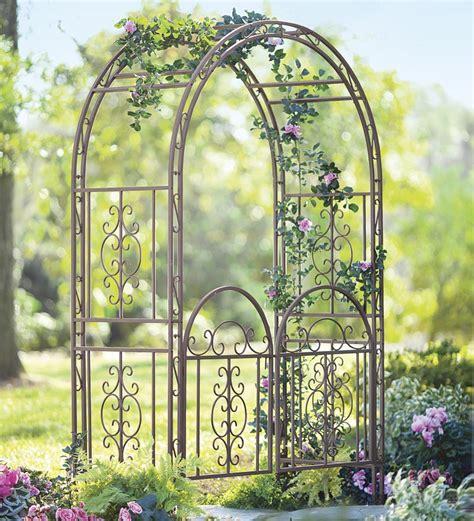 Iron Garden Arbor Gate Iron Arbor With Gate Autumn Weddings Pics