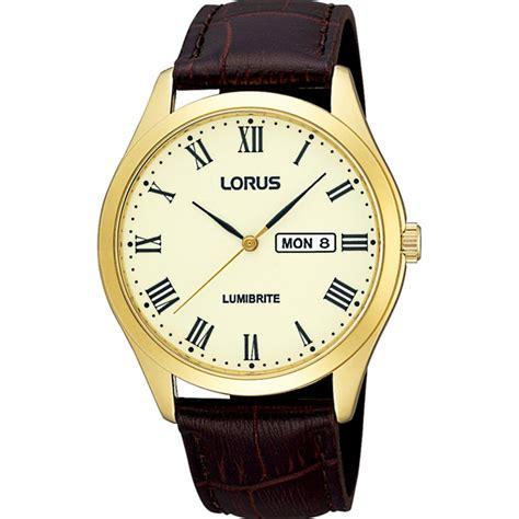 lorus mens classic chagne gold tone rj644ax9