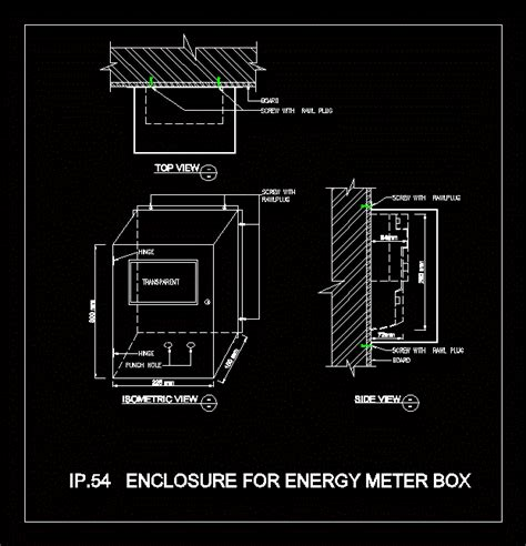electric meter box  dwg plan  autocad designs cad