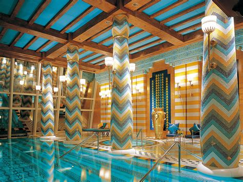 burj al arab interior impressive swimming pool dubai uae burj al arab