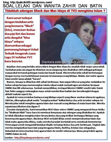 by sifuli published 20 januari 2010 full size is 816 1040 tidakkah adengan black dan mas idayu di tv 3 menghina
