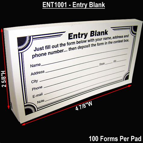 enter to win form template cheap contest entry form pads 100 forms per pad