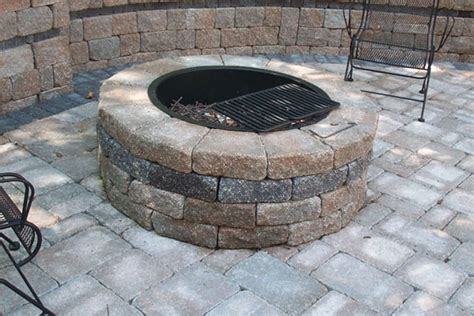 pictures of patios with pits patios pits brummel lawn landscape llc