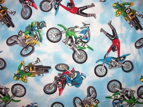 motocross bmx bikes motocross bmx dirt bike racing cotton fabric bthy fabric