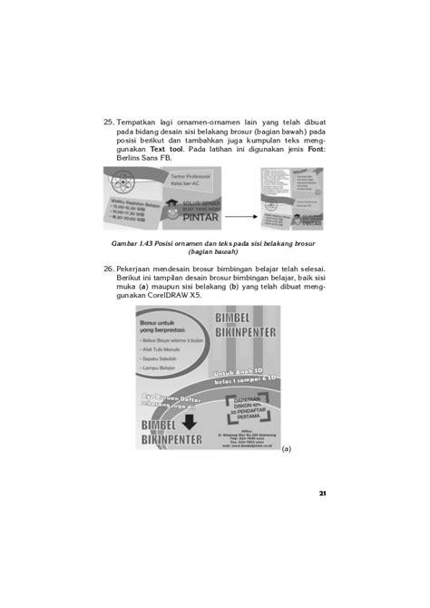 desain gambar corel draw x5 20 desain brosur kreatif dengan corel draw x5