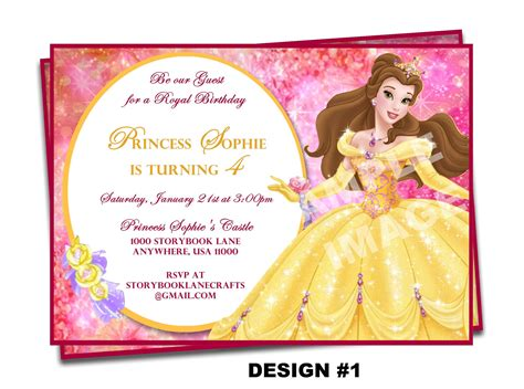 and the beast birthday card template and the beast invitation invitation disney