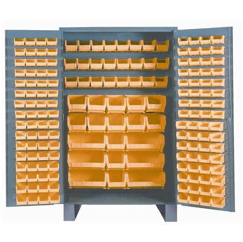 quot welded bin storage cabinets 36 quot quot with plastic bins quot