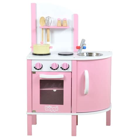Kitchen Set Pink childrens pink wooden kitchen with 5 accessories pretend set ebay