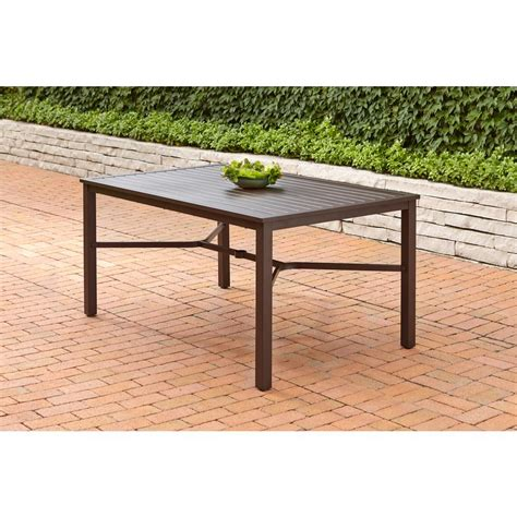 Yotrio Patio Furniture Yotrio Fts70660c Mix Match Rectangular Metal Outdoor Dining Table Vip Outlet
