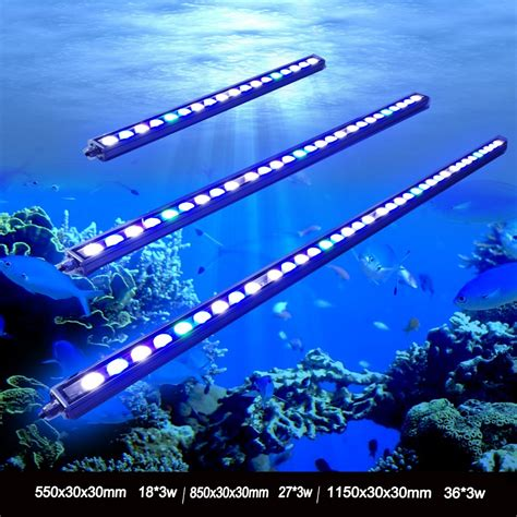 Lu Aquarium Warna Biru 1pcs 54w 81w 108w waterproof ip65 waterproof led aquarium