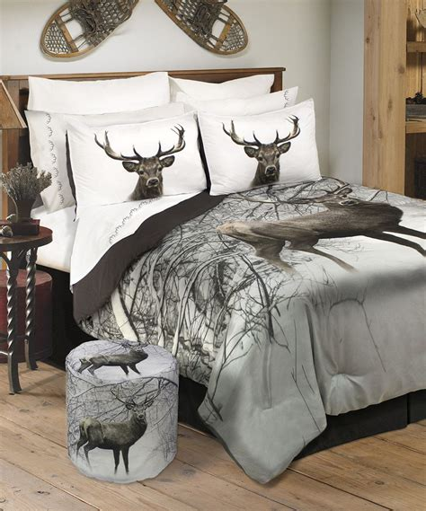 deer bedding sets look what i found on zulily deer in snowy forest wildlife comforter set by safdie co inc