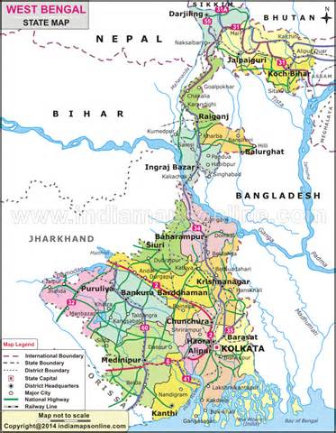 geography maps of west bengal india