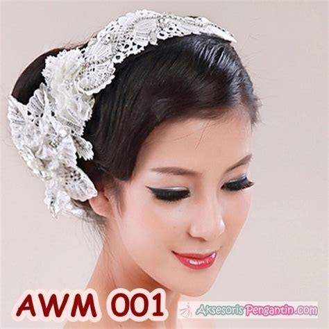 jual aksesoris rambut pesta wedding lace hiasan headpiece