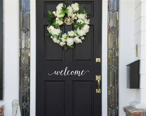 welcome decal for front door welcome door vinyl decal welcome front door sticker welcome