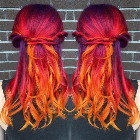 sunset hair color 25 best ideas about sunset hair on colourful