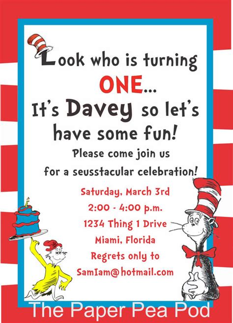 dr seuss templates free cat in the hat birthday invitations wblqual