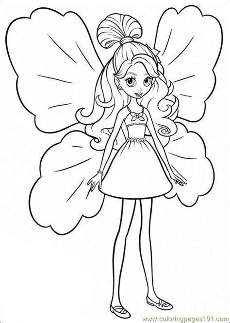 barbie thumbelina 19 coloring page free barbie