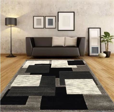 Living Room Silver Carpet New Large Silver Black Modern Living Room Rugs Grey