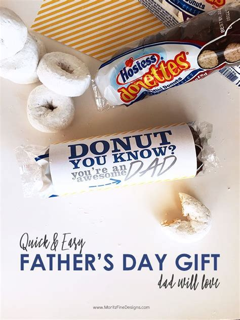 Fathers Day Gift Ideas For The Pop Culture by And Easy S Day Donut Gift Idea Easy Gifts
