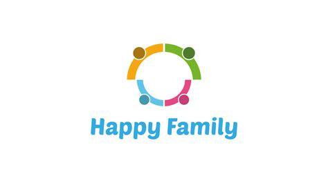 Kaos Family Happy happy family logo logos graphics