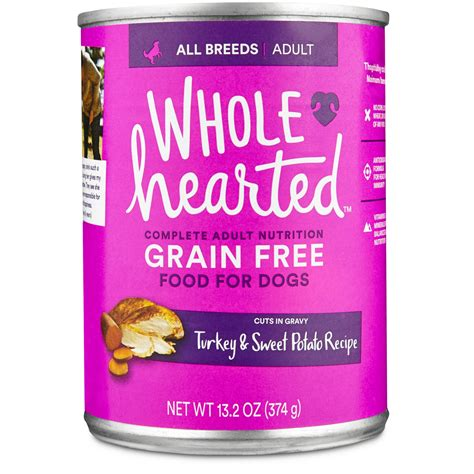 wholehearted food wholehearted food grain free turkey sweet potato canned cuts in gravy