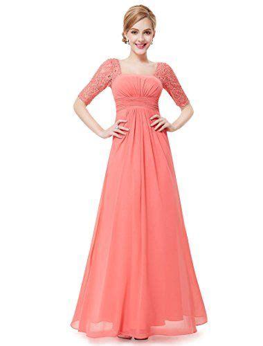 Maxi Dress Square Pyta Import pretty womens half sleeve square neckline evening dress 4 us coral pretty http www