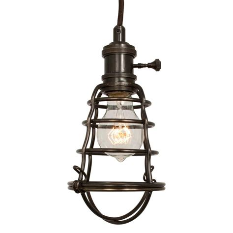 Pendant Lights Home Depot Home Decorators Collection 1 Light Aged Bronze Cage Pendant 25415 105 The Home Depot