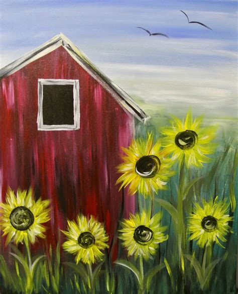 paint nite ideas paint nite sunflower farm creative canvas