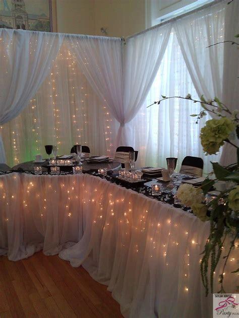 14 best Bridal Table Backdrops images on Pinterest