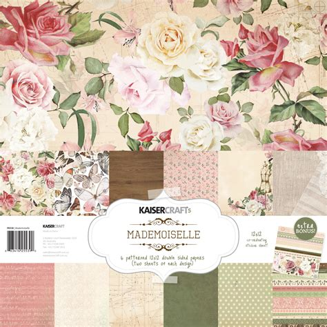kaiser craft paper kaisercraft bon app 233 mademoiselle and st die sets